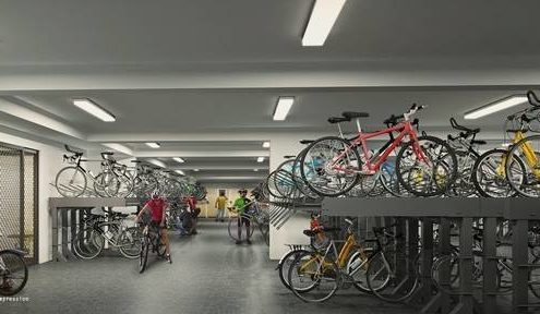 westwood residences secured-covered-bike-garage