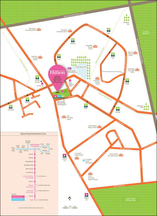 hillion-residences-location-map