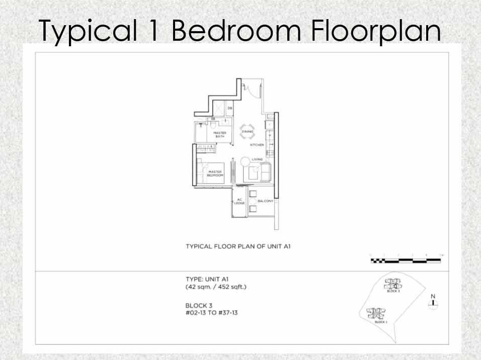 Gem Residences Floor plan 1 Bedroom