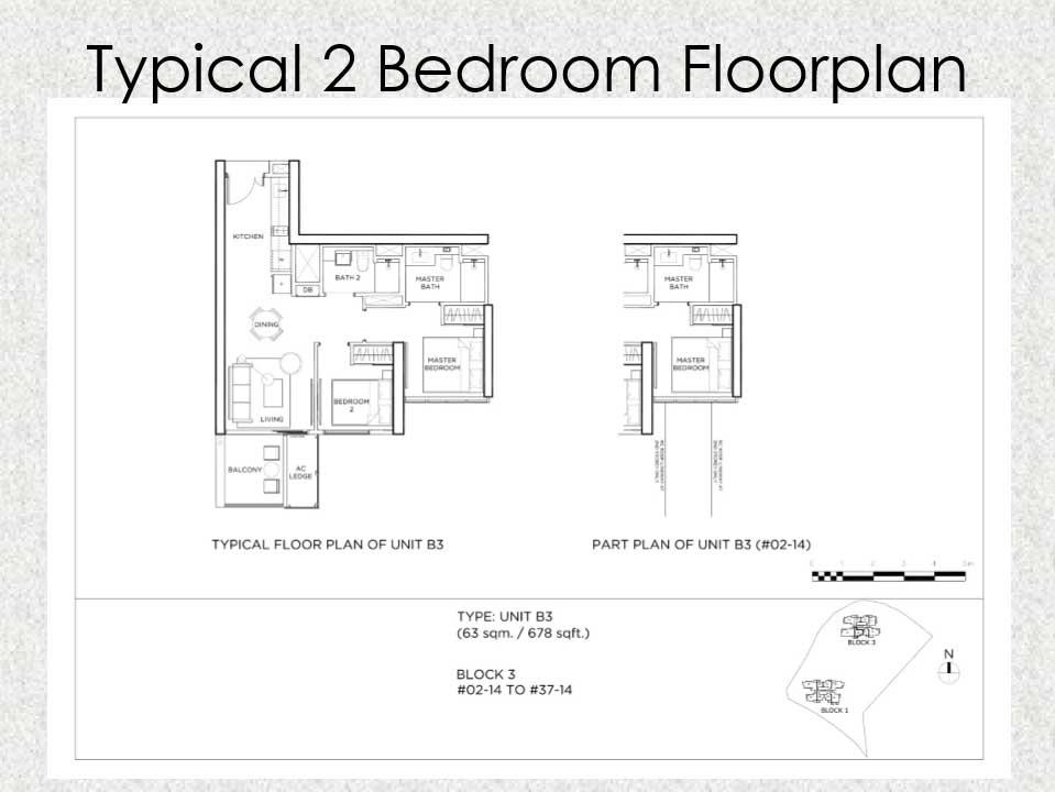 Gem Residences Floor plan 2 Bedroom