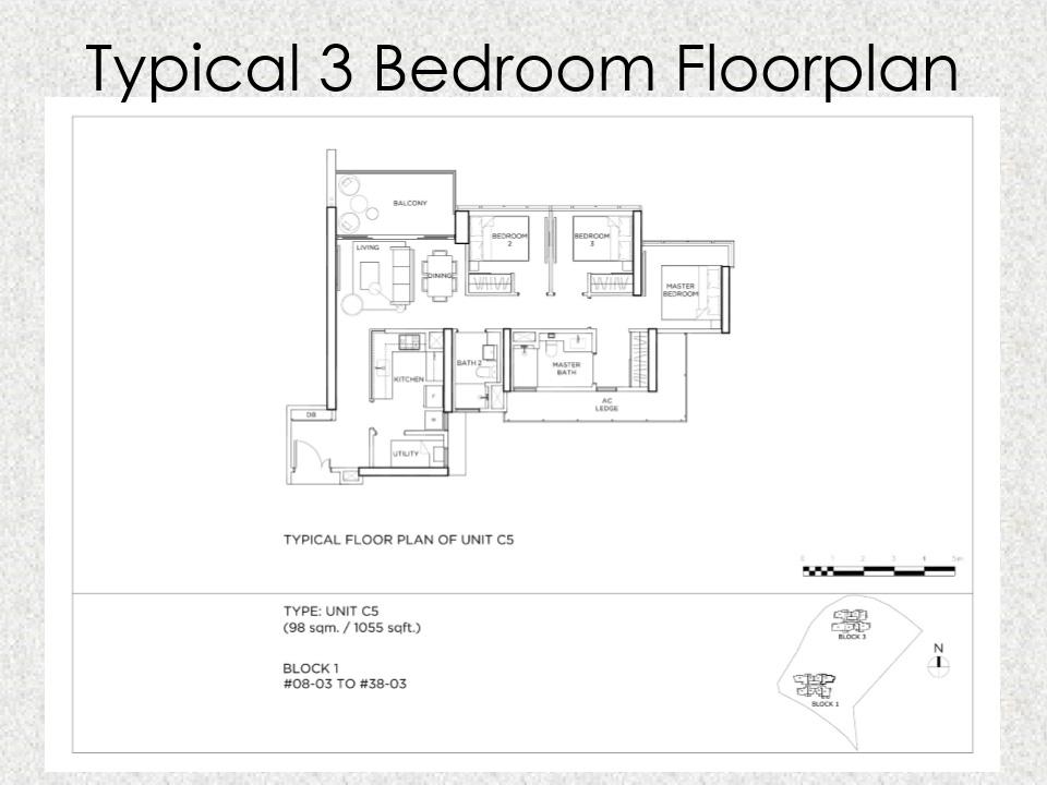 Gem Residences Floor plan 3 Bedroom