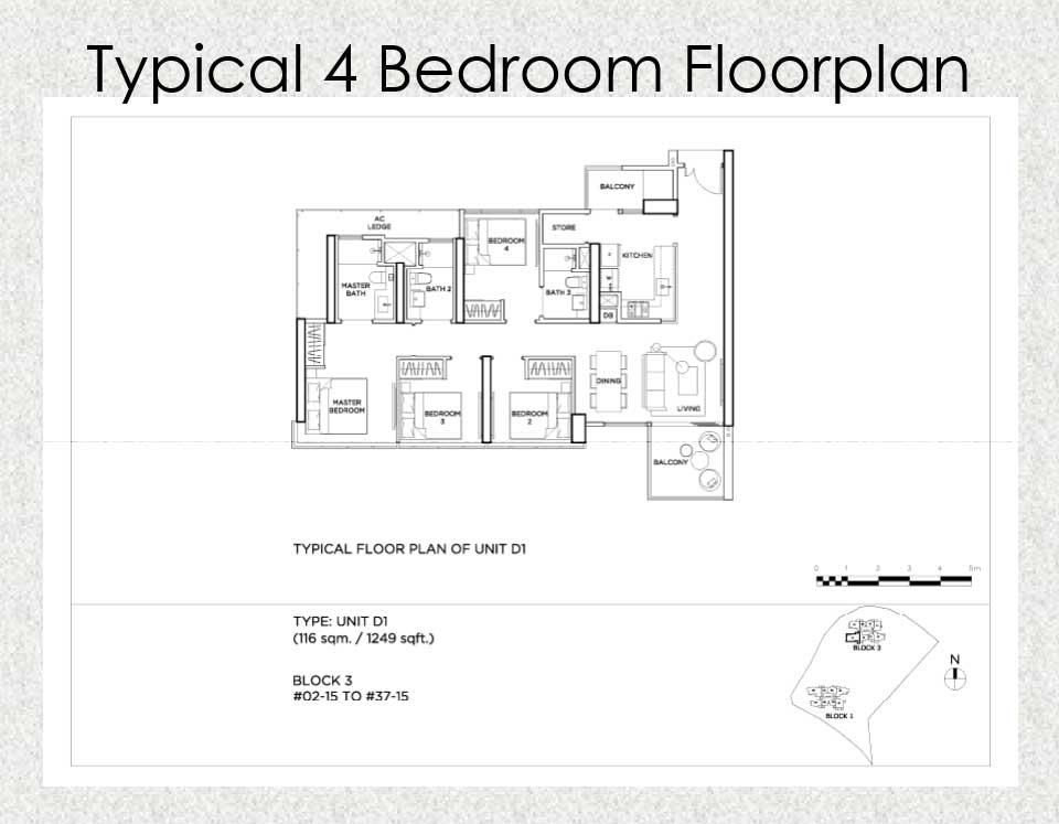 Gem Residences Floor plan 4 Bedroom