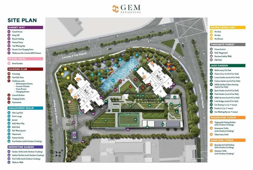 Gem Residences Site Plan