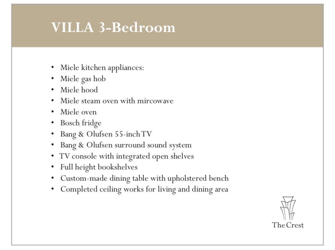 The Crest Villas 3 Bedroom