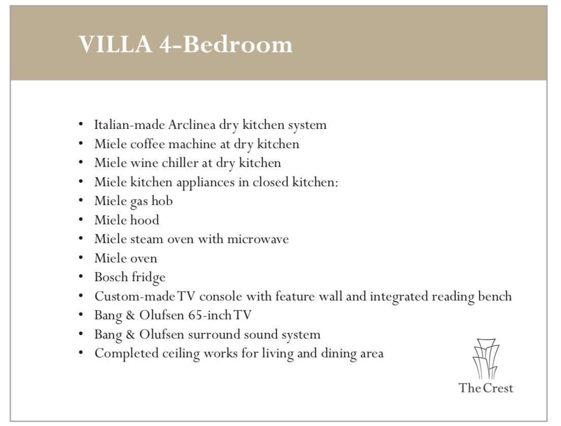 The Crest Villas 4 Bedroom