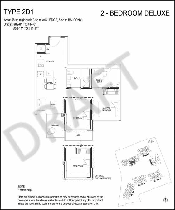 2 Bedroom Deluxe Floor Plan Grandeur Park Residences