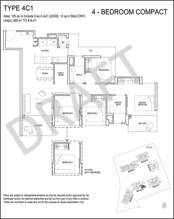 4 Bedroom Compact Floor Plan Grandeur Park Residences
