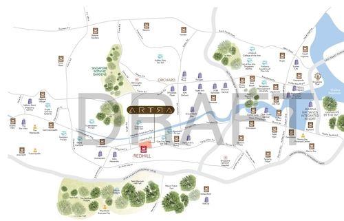ARTRA Condo Location map