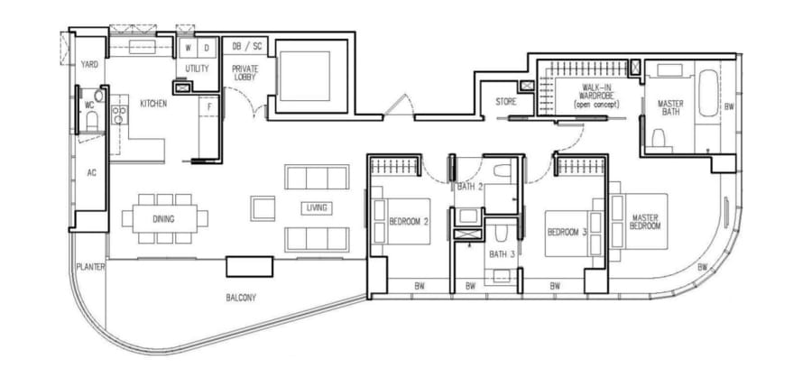 New Future Floor Plan 3 Bedroom