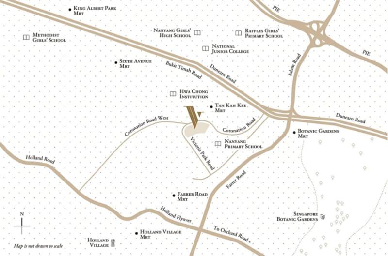 Victoria Park Villas Location Map