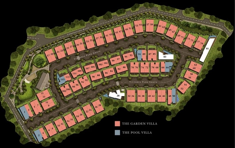 Victoria Park Villas Site Plan