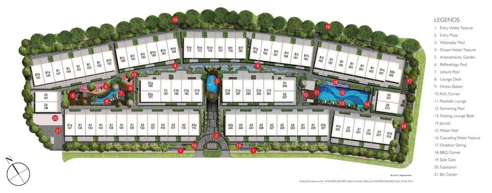 Watercove Ville Site Plan