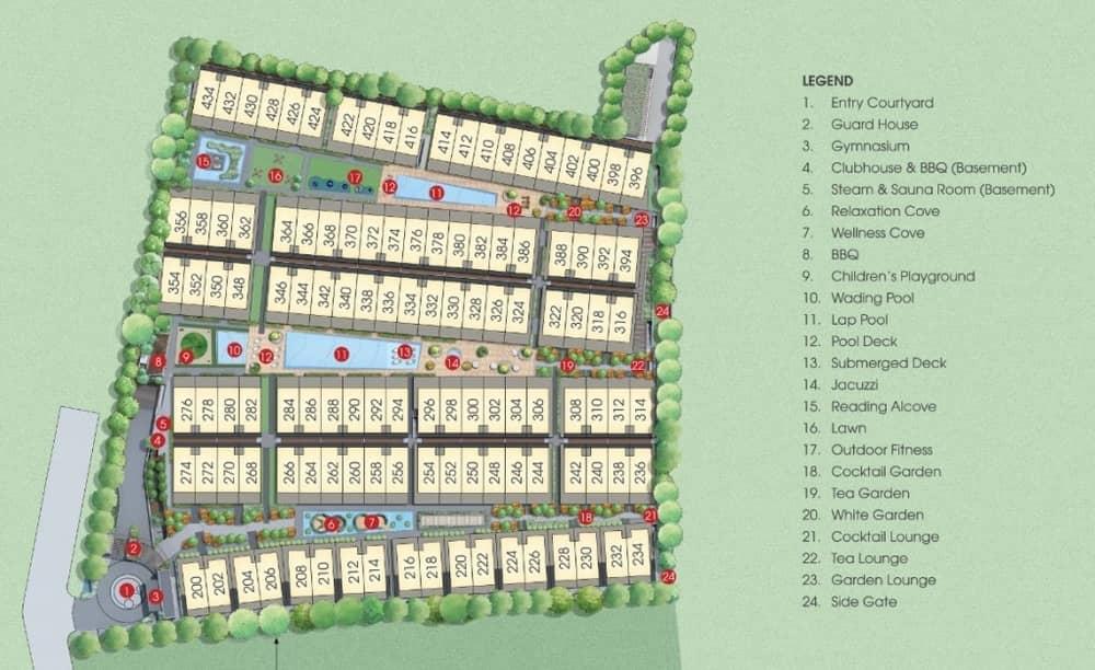Belgravia Villas Site Plan