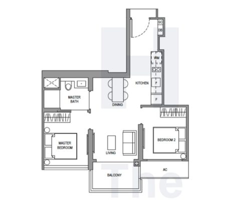 Parc Botannia Floorplan 2 Bedroom a