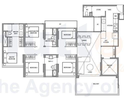 Parc Botannia Floorplan 5 bedroom