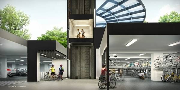 bike garage at Westwood Residences