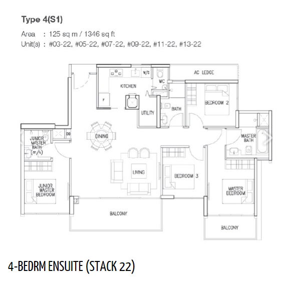 The skywoods floor plan singapore condo for sale for 4 unit condo plans