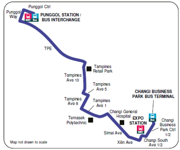 New bus services to ease public commuters in Singapore - Singapore  Bus Route Map on