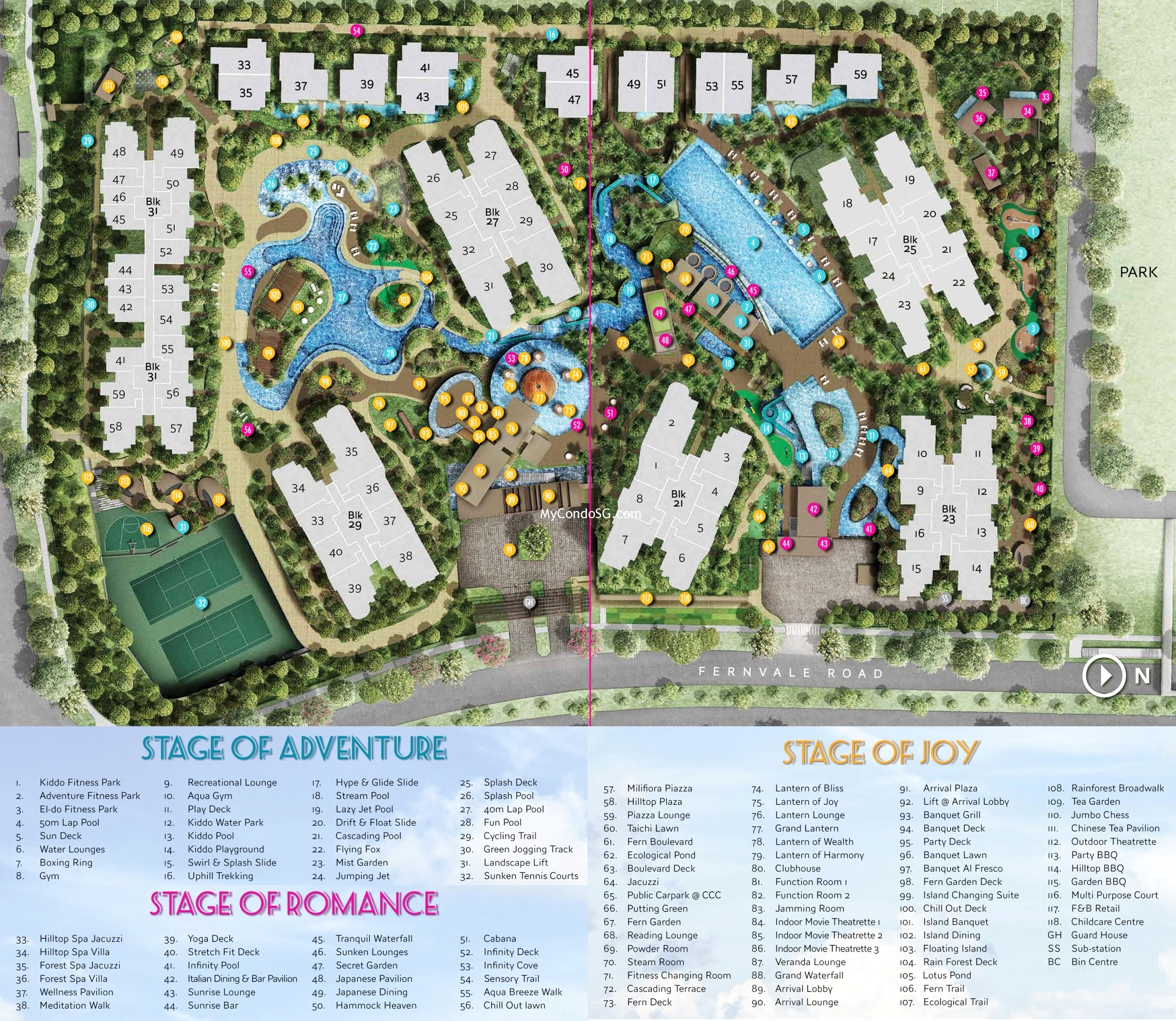 High Park Residences Site Plan With Legend Singapore New
