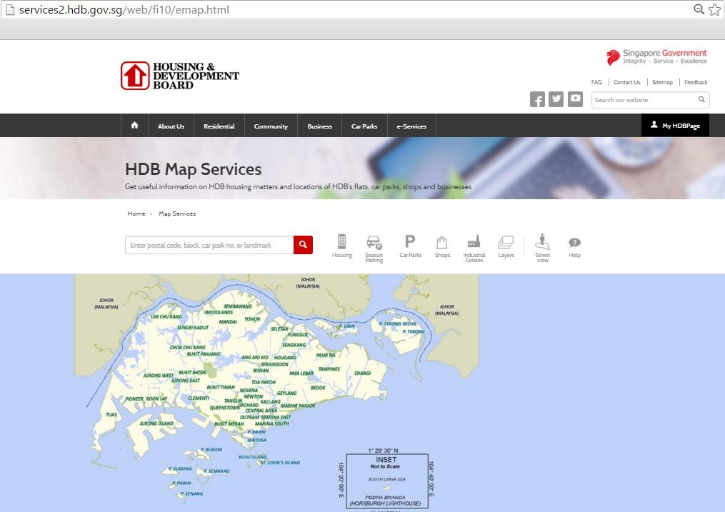 HDB Map Service