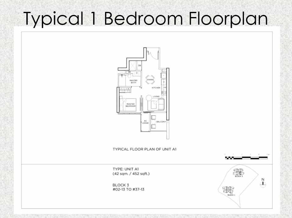 Gem Residences Floor plan 1 Bedroom