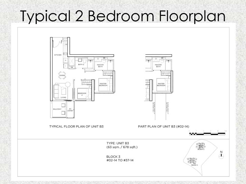 Gem Residences Floor plan 2 Bedroom