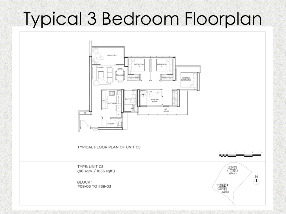 Gem Residences Floor plan 3 Bedroom