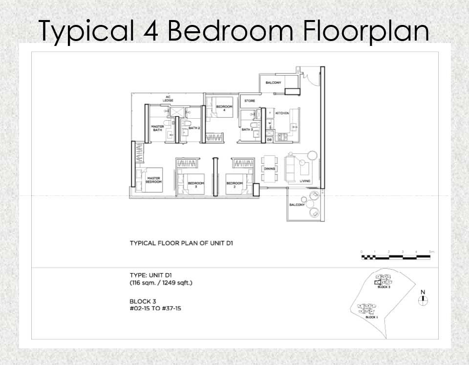 Gem Residences Floor plan 4 Bedroom
