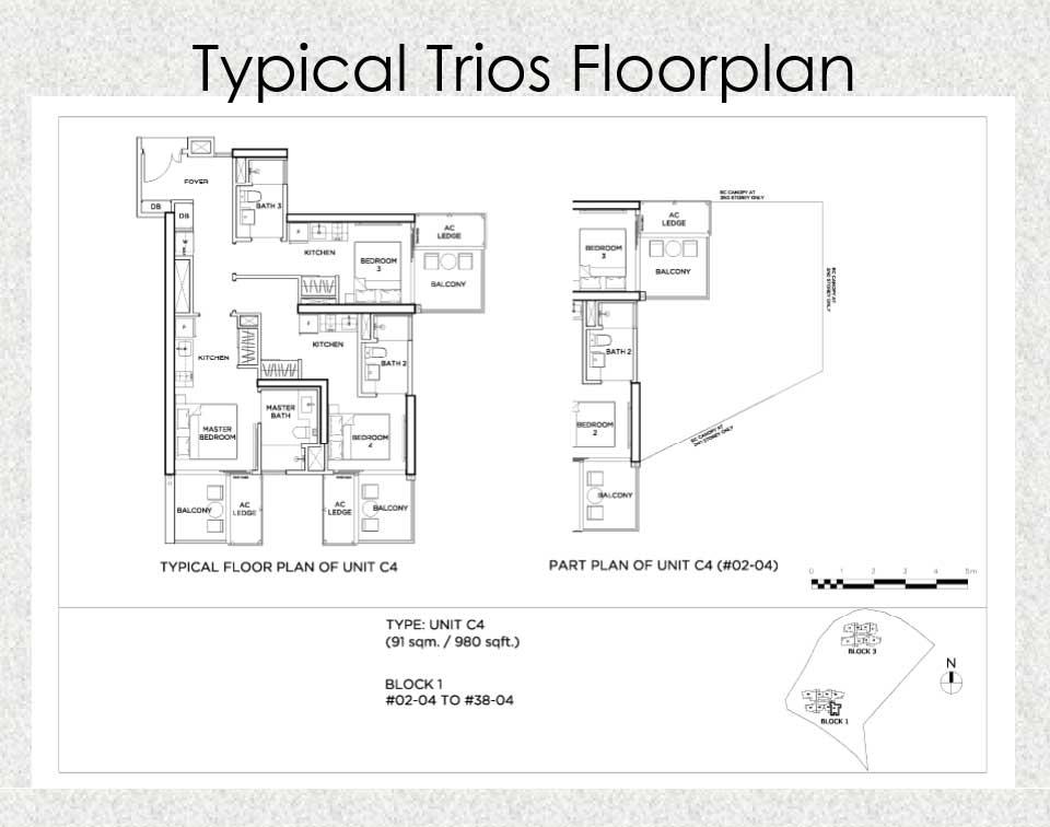Gem Residences Floor Plan Triple Key