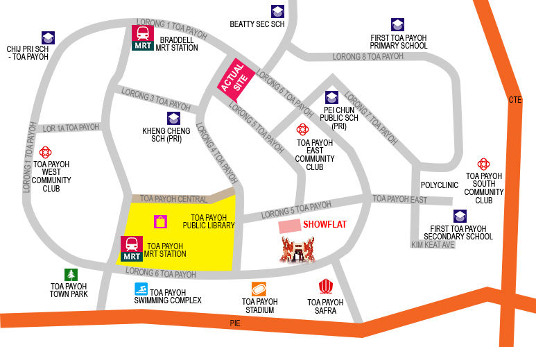 Gem Residences Location