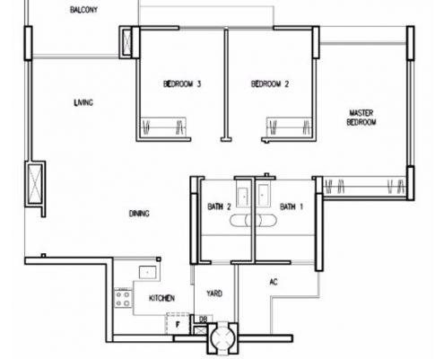 Treasure Crest Floorplan 3 Bedroom