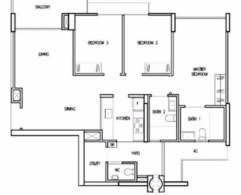 Treasure Crest Floorplan 3 Bedroom Premium