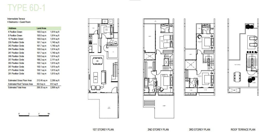 Pavilion Park floorplan type 6d1