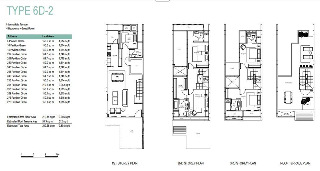 Pavilion Park floorplan Type 6D-2