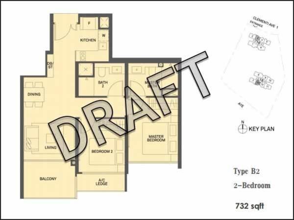 2-bedroom-732sqft-floor-plan-clement-canopy-condo  sc 1 st  Singapore Condo For Sale & 2-bedroom-732sqft-floor-plan-clement-canopy-condo - Singapore ...