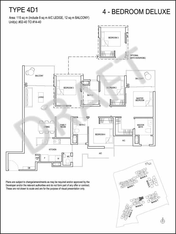 4 Bedroom Deluxe Floor Plan Grandeur Park Residences