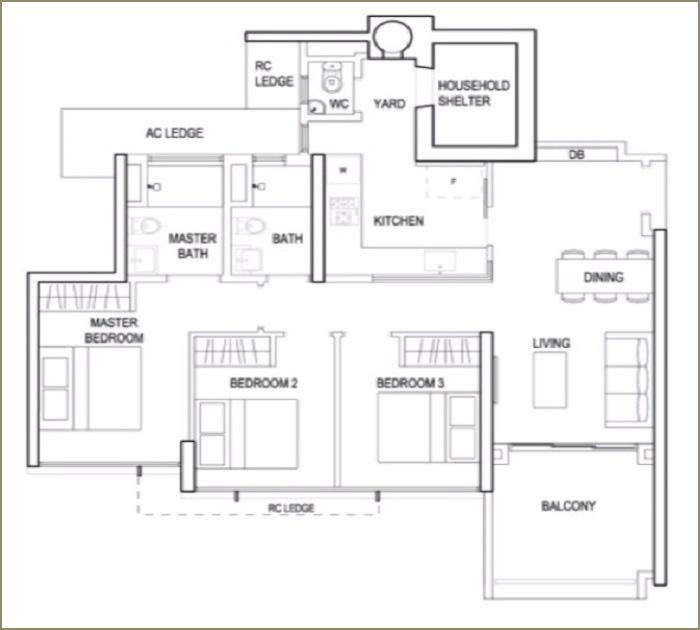 terrace-ec-floorplan-3br-premium-type-b3-1076sqft