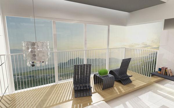 Penthouse Singapore BIg Balcony
