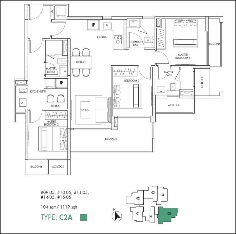 12 on Shan Floor Plan 3 Bedroom Dual Key