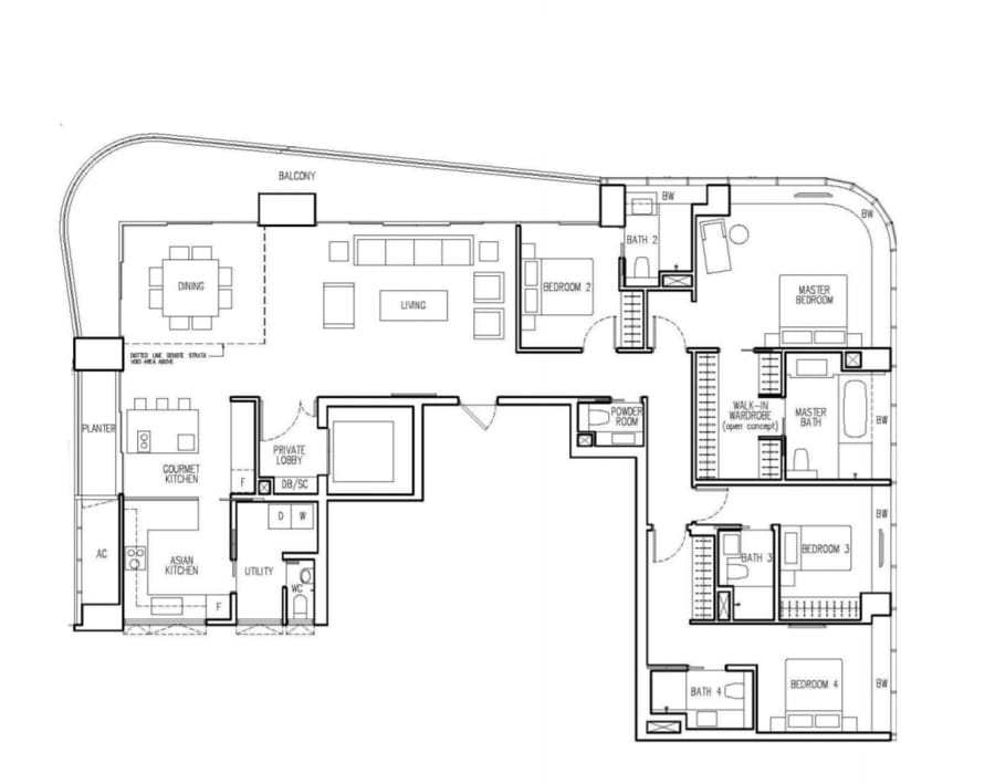 New Future Floor Plan 4 Bedroom C2