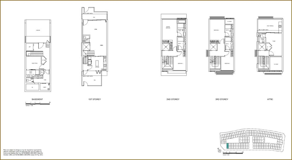 Watercove Corner Terrace Floor Plan