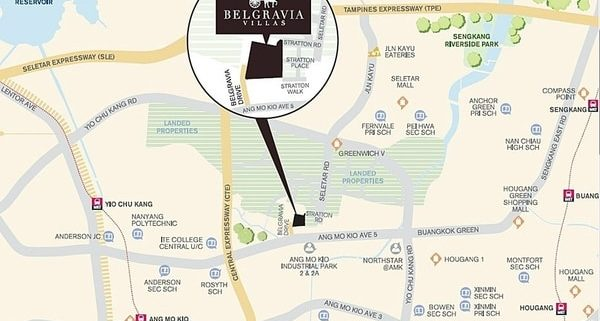 Belgravia Villas Location Map