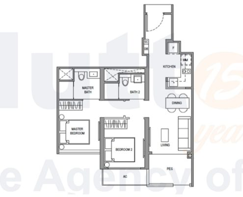 Parc Botannia Floorplan 2 Bedroom b
