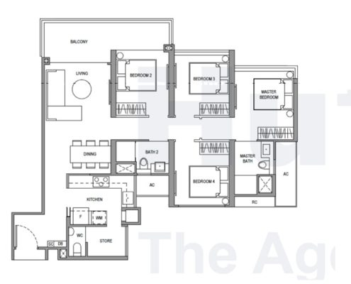 Parc Botannia Floorplan 4 bedroom