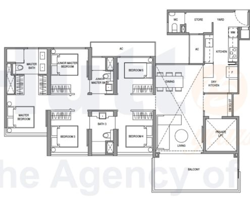 Parc Botannia Floorplan 5 bedroom