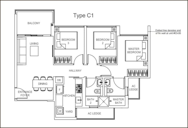 Rivercove Residences EC Type C1