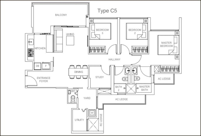 Rivercove Residences EC Type C5