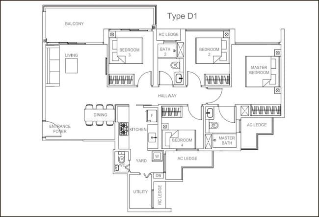 Rivercove Residences EC Type D1