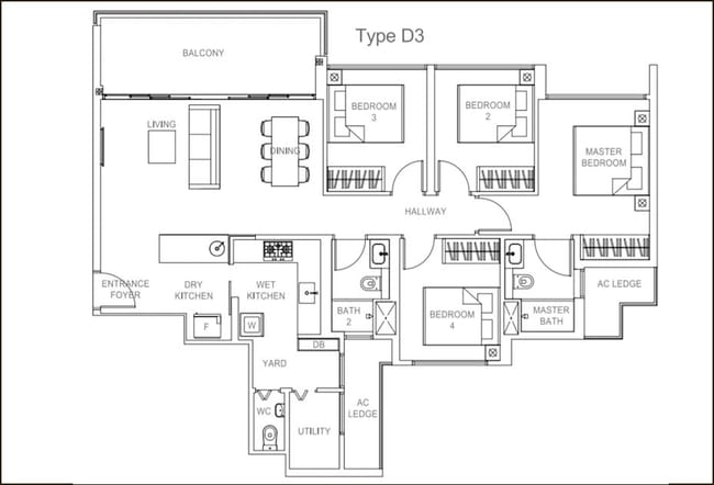 Rivercove Residences EC Type D3