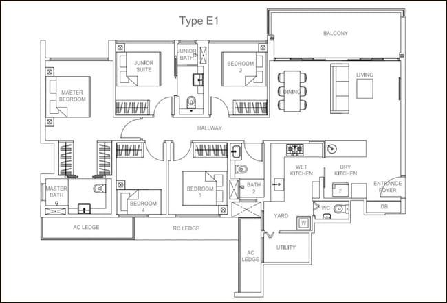Rivercove Residences EC Type E1